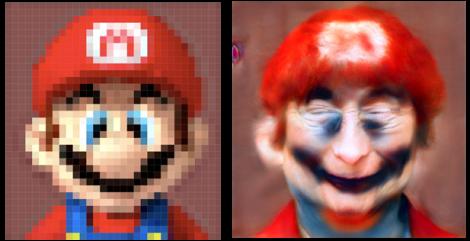 マリオはこんな顔だった!?顔を生成するAI技術が登場www
