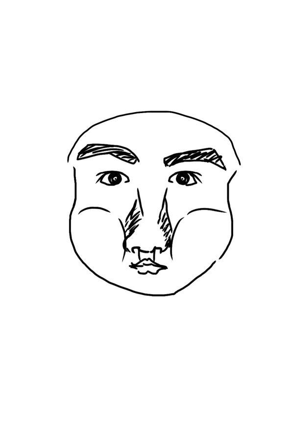 【画像】ねらーのヒッキーニートのまんの者だけど自分の似顔絵描いた