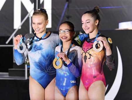 【画像】体操の世界選手権で眼鏡を掛けた超絶美女が金メダル!