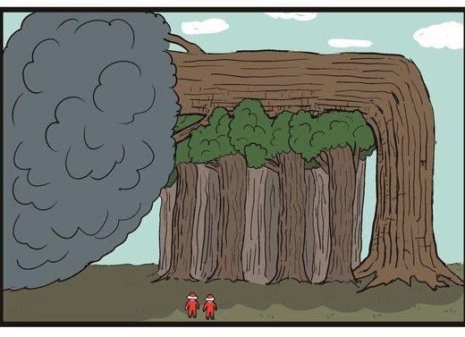 【4コマ漫画】老害の樹