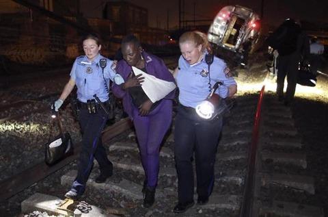 フィラデルフィア脱線事故の負傷者