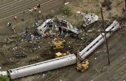 フィラデルフィア列車脱線事故の現場2