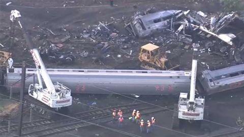 フィラデルフィア列車脱線事故の現場