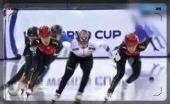 スピードスケート・ショートトラックで韓国選手が中国選手を転倒させ失格