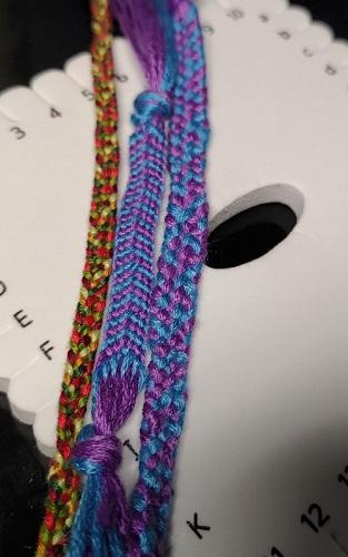 余った刺繍糸で組紐はじめました