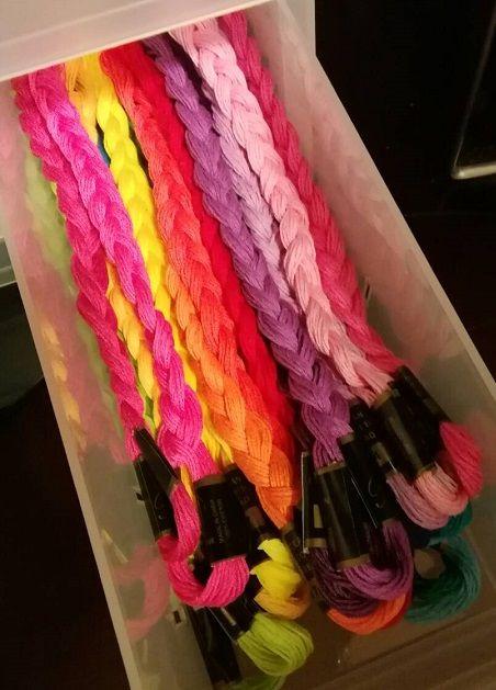 刺繍糸の収納ボックス