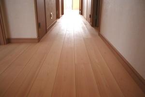ヒノキの床