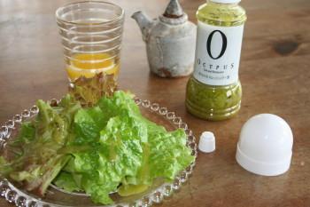 野菜とドレッシング
