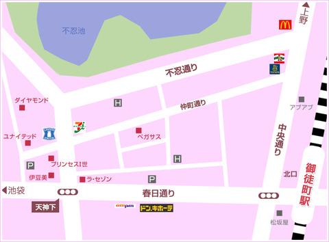 湯島、上野hotel 性感ヘルス・M性感 湯島・御徒町美療system_map