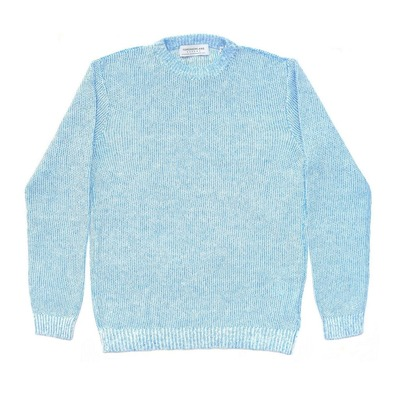 Gima Linen Crew Neck Knit ( 63-02-81-02110 ) BLUE