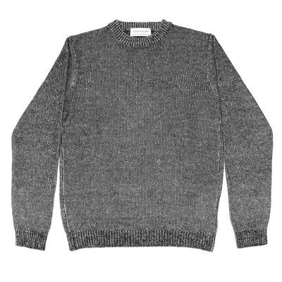 Gima Linen Crew Neck Knit ( 63-02-81-02110 ) BLACK