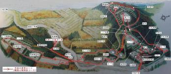 山中城見学ルート図