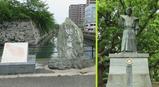 09徳島城の堀と蜂須賀家政公像