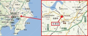佐倉城・地図