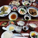 17夕食(上)と朝食(下)