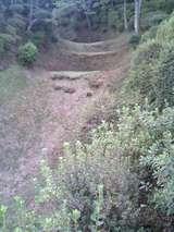 西櫓周囲の畝堀