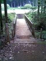 本丸側から木橋と北ノ丸