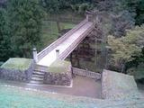 八王子城16御主殿跡より曳橋を見る