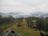 14天守から宇和島港方面を望む