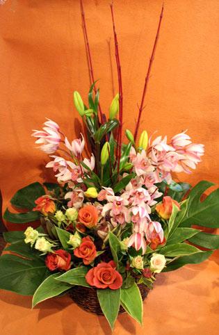 花ギフト フラワーギフト 誕生日 花 カノシェ話題 スタンド花 ウエディングブーケ 花束 花屋 茶