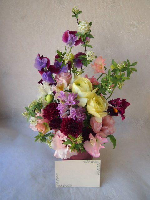 花ギフト|フラワーギフト|誕生日 花|カノシェ話題|スタンド花|ウエディングブーケ|花束|花屋|53357