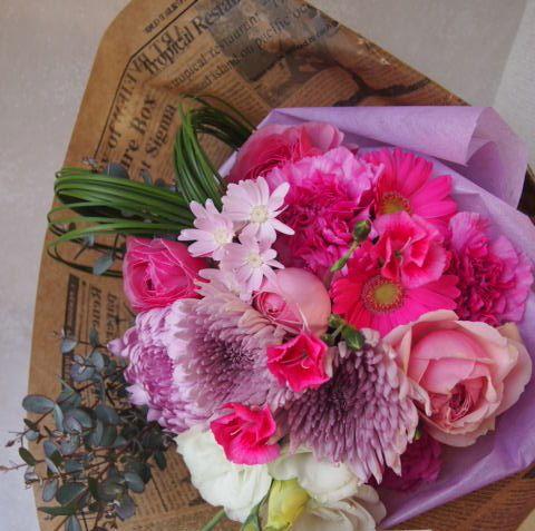 花ギフト|フラワーギフト|誕生日 花|カノシェ話題|スタンド花|ウエディングブーケ|花束|花屋|53653