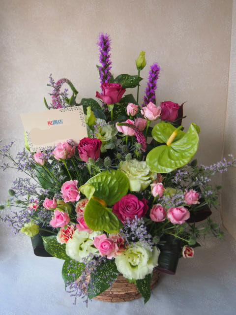 花ギフト|フラワーギフト|誕生日 花|カノシェ話題|スタンド花|ウエディングブーケ|花束|花屋|56105