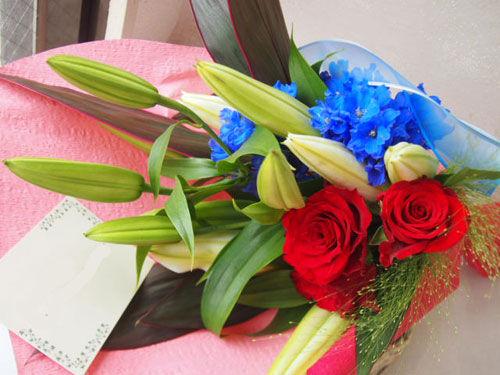 花ギフト|フラワーギフト|誕生日 花|カノシェ話題|スタンド花|ウエディングブーケ|花束|花屋|56611