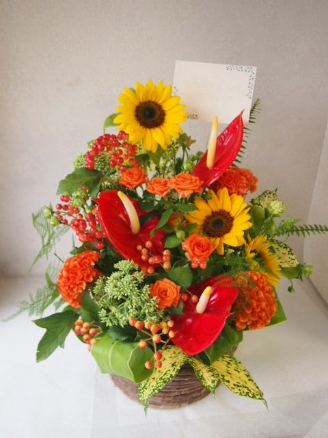 花ギフト|フラワーギフト|誕生日 花|カノシェ話題|スタンド花|ウエディングブーケ|花束|花屋|49885
