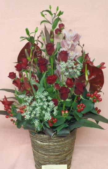 花ギフト フラワーギフト 誕生日 花 カノシェ話題 スタンド花 ウエディングブーケ 花束 花屋 SAYA-AKA
