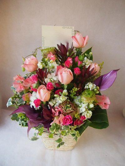 花ギフト|フラワーギフト|誕生日 花|カノシェ話題|スタンド花|ウエディングブーケ|花束|花屋|38181
