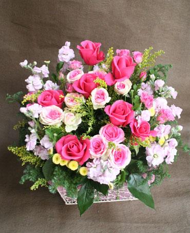 花ギフト フラワーギフト 誕生日 花 カノシェ話題 スタンド花 ウエディングブーケ 花束 花屋 ミミ