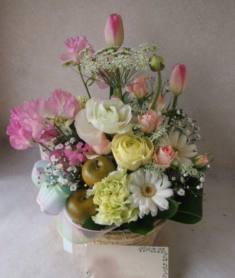 花ギフト|フラワーギフト|誕生日 花|カノシェ話題|スタンド花|ウエディングブーケ|花束|花屋|53982