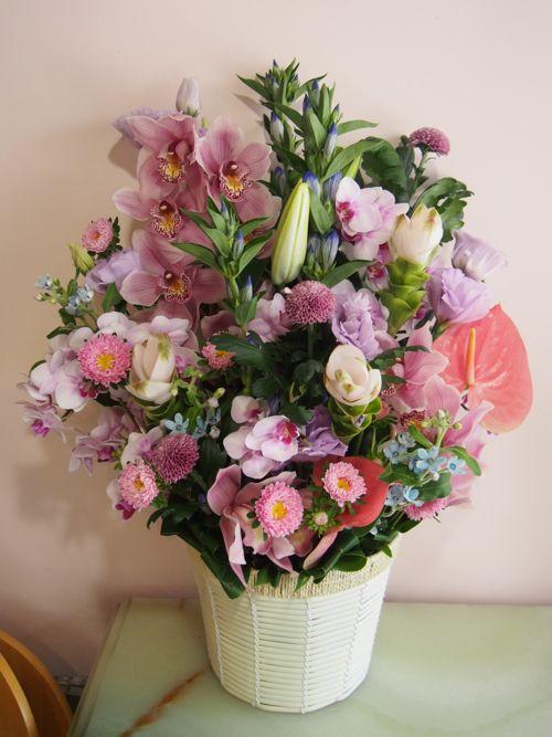 花ギフト|フラワーギフト|誕生日 花|カノシェ話題|スタンド花|ウエディングブーケ|花束|花屋|57698