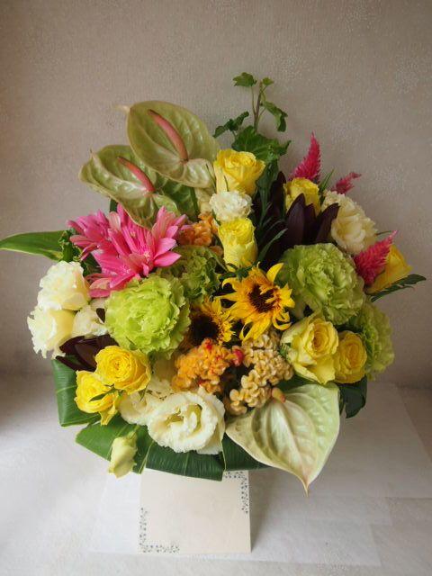 花ギフト|フラワーギフト|誕生日 花|カノシェ話題|スタンド花|ウエディングブーケ|花束|花屋|50071