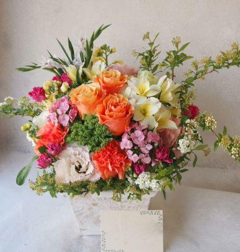 花ギフト|フラワーギフト|誕生日 花|カノシェ話題|スタンド花|ウエディングブーケ|花束|花屋|54986