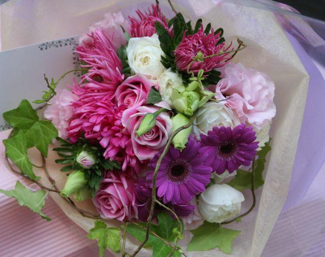 花ギフト|フラワーギフト|誕生日 花|カノシェ話題|スタンド花|ウエディングブーケ|花束|花屋|IMG_0307