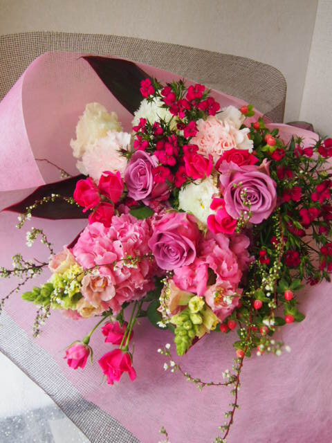 花ギフト|フラワーギフト|誕生日 花|カノシェ話題|スタンド花|ウエディングブーケ|花束|花屋|53595