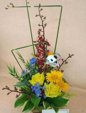 花ギフト|フラワーギフト|誕生日 花|カノシェ話題|スタンド花|ウエディングブーケ|花束|花屋|パンダ1