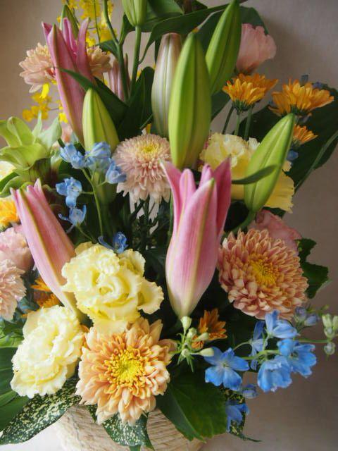 花ギフト|フラワーギフト|誕生日 花|カノシェ話題|スタンド花|ウエディングブーケ|花束|花屋|P7045601(1)
