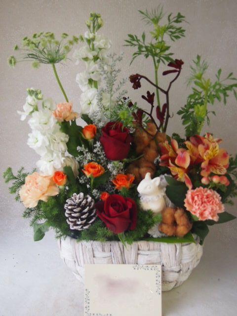花ギフト|フラワーギフト|誕生日 花|カノシェ話題|スタンド花|ウエディングブーケ|花束|花屋|51972
