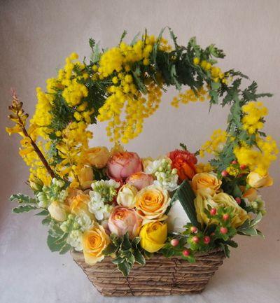 花ギフト|フラワーギフト|誕生日 花|カノシェ話題|スタンド花|ウエディングブーケ|花束|花屋|38581(1)