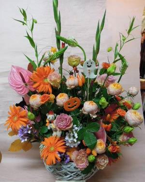 花ギフト|フラワーギフト|誕生日 花|カノシェ話題|スタンド花|ウエディングブーケ|花束|花屋|りえ ハロウィン