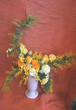 花ギフト|フラワーギフト|誕生日 花|カノシェ話題|スタンド花|ウエディングブーケ|花束|花屋|きみえさんミモザ
