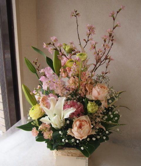 花ギフト|フラワーギフト|誕生日 花|カノシェ話題|スタンド花|ウエディングブーケ|花束|花屋|54471