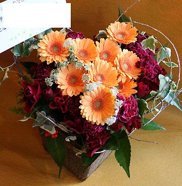 花ギフト|フラワーギフト|誕生日 花|カノシェ話題|スタンド花|ウエディングブーケ|花束|花屋|ハート5