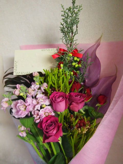花ギフト|フラワーギフト|誕生日 花|カノシェ話題|スタンド花|ウエディングブーケ|花束|花屋|52612