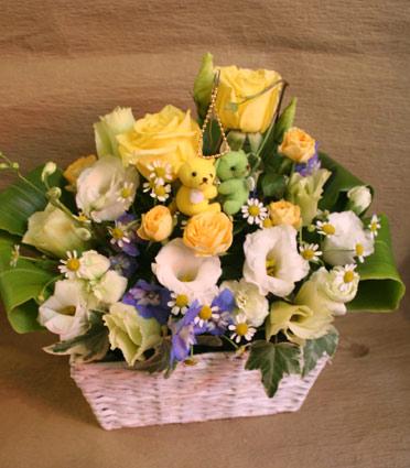 花ギフト|フラワーギフト|誕生日 花|カノシェ話題|スタンド花|ウエディングブーケ|花束|花屋|クマ
