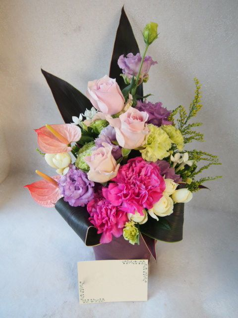 花ギフト|フラワーギフト|誕生日 花|カノシェ話題|スタンド花|ウエディングブーケ|花束|花屋|51693