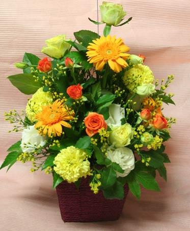 花ギフト|フラワーギフト|誕生日 花|カノシェ話題|スタンド花|ウエディングブーケ|花束|花屋|みさき 黄色